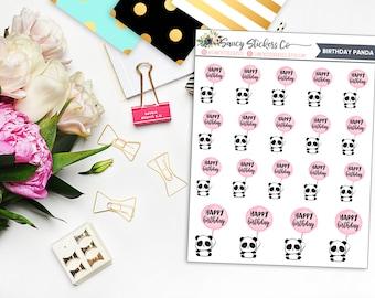 Birthday Panda Planner Stickers