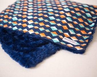 Diamond pattern ~ Faux Fur Minky ~ Baby Blanket ~ Toddler blanket