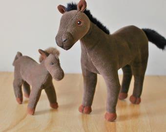 Farm Sheep - Handmade Realistic Models - Horse & Foal - Kids, Baby Toys - Nursery Decor