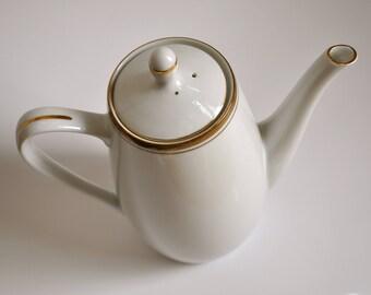 "Vintage Tea pot ""Translucent Porcelain"" Royalton China Co Japan Fine China YD Golden trim"