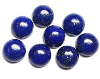 5 pieces 8mm lapis lazuli cabochon, natural lapis lazuli round cabochon gemstone, Lapis Lazuli Round, lapis lazuli cabochon round Gemstone