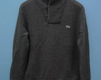 Vintage Chemise Lacoste Minimalist Logo Crewneck Sweatshirt Urban Fashion