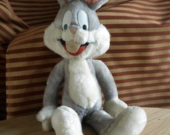 "Vintage Warner Bros 1971 Bugs Bunny 18"" Plush Stuffed Animal by Mighty Star"