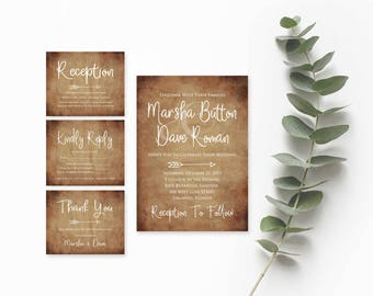 Rustic Wedding Suite- Rustic Wedding Invitation Template- Wedding Invites- Country Wedding Invitations-Boho Wedding Invitation-String Lights