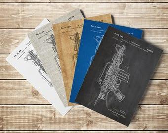 M16 Gun Poster, AR15 Gun Poster, M16 Gun Patent, Gun Printable,M16 Rifle Poster,M16 Gun Print,M16 Rifle Patent,Armalite 15, INSTANT DOWNLOAD