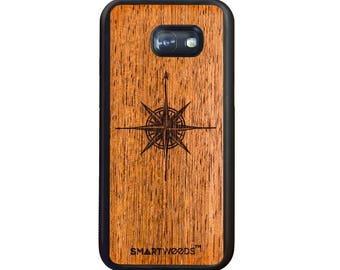 Samsung Galaxy A5 2017 - Real Wood Case - Wind Rose