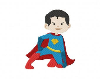 Superhero super man machine embroidery design