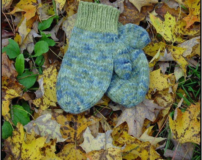 Two Needle Mitten Kniting Pattern Family Sizing