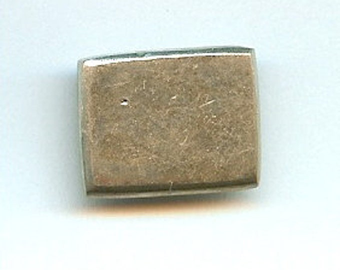 Rectangle Danforth pewter button