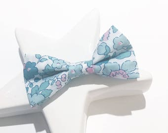 "Barrette ""Liberty Betsy"" turquoise bow"