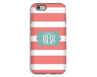 iPhone 8 case, striped iPhone 8 Plus case, monogram iPhone 7/7 Plus/6s/6s Plus/6/6 Plus case, girls iPhone cases, monogram iPhone X case