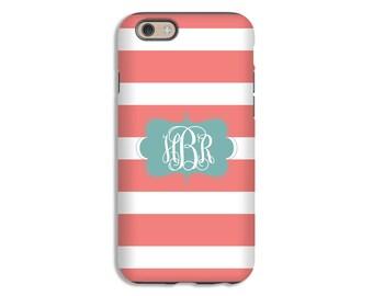 iPhone 7 case, striped iPhone 7 Plus case, stripes iphone 6s/6s Plus/6/6 Plus/5/5s case, girls iPhone cases, monogram iPhone case
