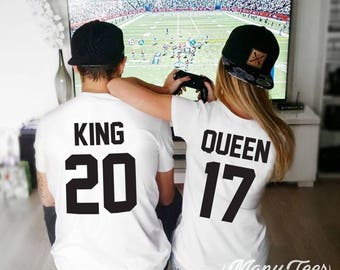 Couples shirts king and queen shirts couples t shirt couples matching shirts couples gift couples outfit king and queen valentines day shirt