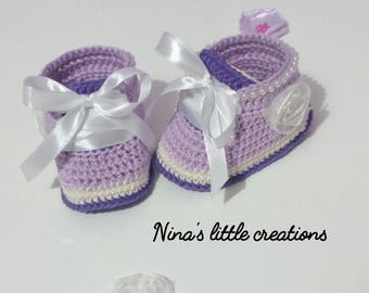 crochet baby girl sneakers