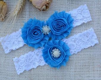 Garter Blue Wedding, Garter Set, Blue Bridal Clothing, Somethig Blue, Garter For Bridal, Garter For Brides, Lace Garter Blue, Keep Garters