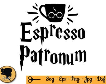 Harry Potter SVG,  Espresso Patronum, (zipped .eps .pdf .dxf .svg and .studio file) vector cutting files