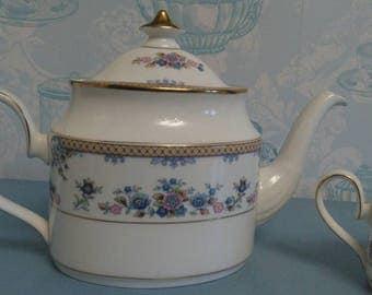 Beautiful vintage Minton Teapot Byron (Avonlea) pattern blue flowers