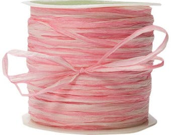 200 Yards Pink  Paper Raffia Ribbon  romantic ribbon, weddings, favors, barn wedding