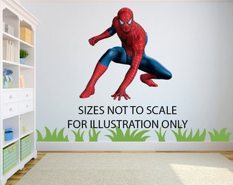 Spiderman 3D Effect Graphic Wall Vinyl Sticker Decal