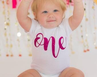 ONE babies first birthday onesie