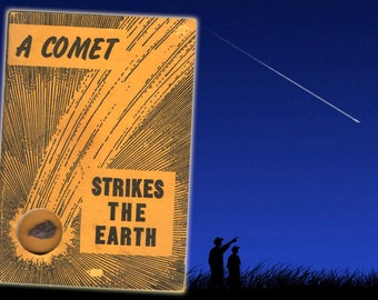 A Comet Strikes the Earth, Meteorite, Outer Space, Science Books, Geology Books