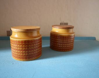 Pair of Hornsea Canisters