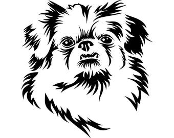 Pekingese #1 Dog Breed K-9 Animal Pet Hound Lab Puppy Logo .SVG .EPS .PNG Instant Digital Clipart Vector Cricut Cut Cutting Download File