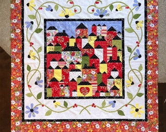 Hillside Hamlet quilt pattern, from Jillily Studio by Jill Finley