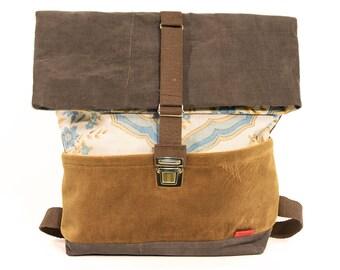 Pistachio Big backpack/Upcycling bagpack GM07
