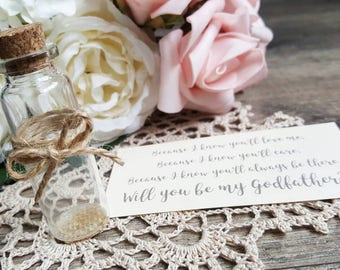 Will you be my Godfather? | Message in a Bottle | Proposal Gift | Godfather Proposal Gift | Godfather Proposal