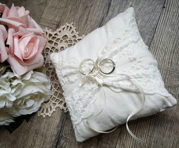 ring bearer pillow ivory wedding ring pillow ring bearer