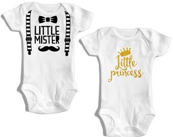 Twins - Twin outfits - Twin outfits boy girl - Twins baby gift - Baby shower twins - Twin bodysuits - Gift for twins - Baby twins - Matching