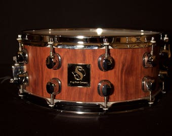 6x14 Bubinga Solid Stave Snare Drum