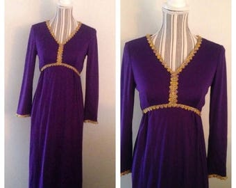 On Sale Gorgeous Regal Purple Gown with Beaded Embellishments