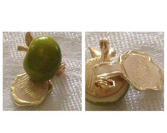 On Sale Adorable Green Apple Ceramic Scatter Pin