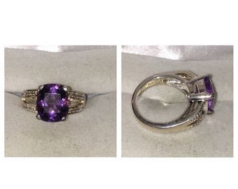 Anniversary Sale Sterling Silver 925 Amethyst Ring