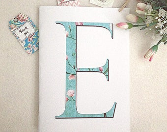 Colorful Handmade notebook Personalized notebooks Floral letters Wedding gift Guest gift Classmate gift Teacher gift Birthday gift Mom gift