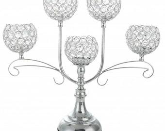 Crystal Candelabra Wedding Table Centerpiece