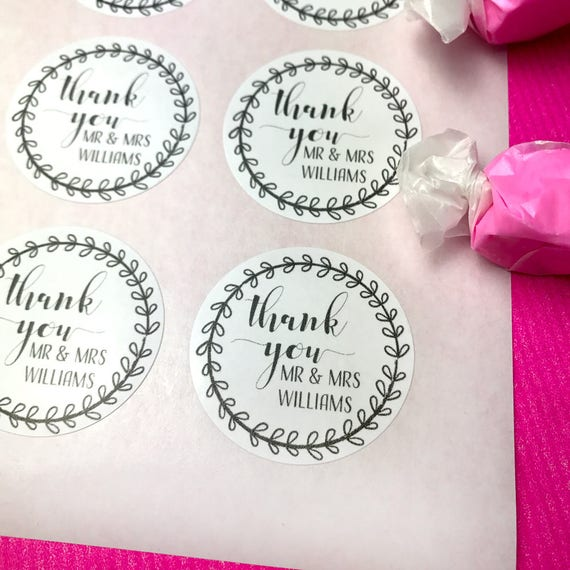 25%OFF Favors personalized, Wedding stickers thank you for celebrating with us, Custom thank you stickers, Stickers round