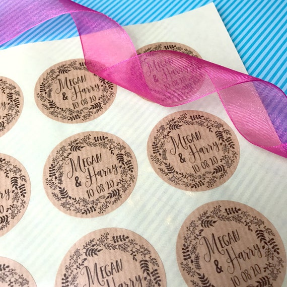 25%OFF Wedding labels for bags, Wedding stickers for cards, Personalized stickers for favors, Wedding stickers for envelopes labels