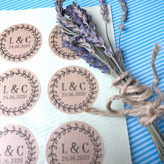 25%OFF Stickers wedding favours UK, Wedding favor custom sticker labels, Summer wedding favor, Monogram stickers for wedding