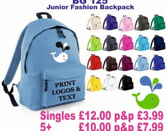 Personalised Printed Fashion Backpack