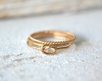 14k SOLID Gold Stacking Rings. Yellow Gold Stacking Rings, 14k Solid Gold Stackable Rings, Gold Stacking Rings, Stacking Rings Yellow Gold