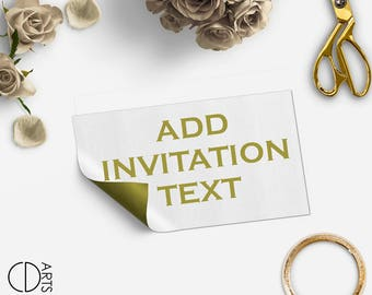Add On listing only for edit invitation text - digital file