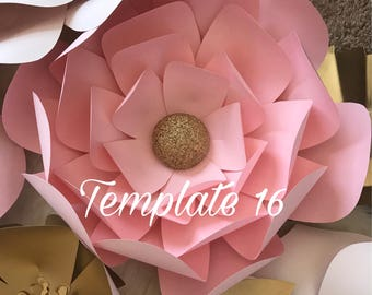 Hard Copy Template 16 Large Paper Flower