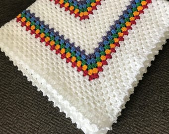 New Made To Order Granny Square Baby Blanket/ Granny Square Blanket/ Baby Blanket