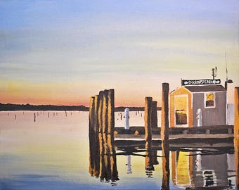 Dockmaster, Limited Edition Print of Oil Painting