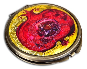 BiggDesignPomegranate Pocket Mirror