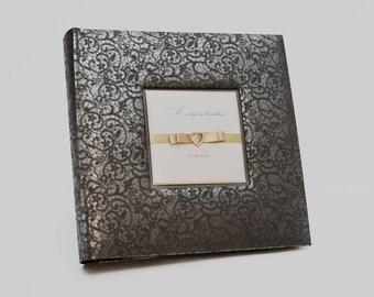 Black album, Large photo album, Black photo album, wedding, Personalized Black album, black pages, large wedding album, album black pages