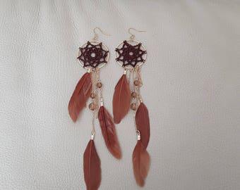 Chic and elegant dream catcher earrings